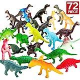 Figuren von Dinosauriern,72 Stcke Mini-Dinosaurier-Set,sicheres Material,Gemsichte...