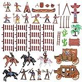 Toyvian 1 Set Cowboys Und Indianer Spielzeug, Indianer Figuren Plastik Indianer Figuren für Dekor...