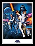 Pyramid International Star Wars A New Hope (One Sheet) 30x40 cm gerahmter Druck, 250GSM PAPERWRAP...
