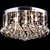 CCLIFE Modern Kristall Kronleuchter LED G9 GU10 Deckenleuchte Pendelleuchte Crystal Lüster,...