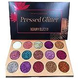 BEAUTY GLAZED 15 Farben Lidschatten Glitzer Lidschatten Palette Wasserdichte Lidschatten Glitter...