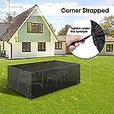 Gartenmöbel Set Cover, Oxford-Gewebe Wasserdicht Atmungsschutzhülle, for Außenterrasse Tisch und...