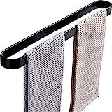 ZSCWAN 6221512 Handtuchhalter, 1 Stange, Handtuchhalter, ohne Loch, Schwarz, 30 cm