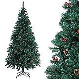 Homfa 195cm Knstlicher Weihnachtsbaum Tannenbaum Christbaum Weihnachten Dekoration mit Tannenzapfen...