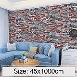 lixiang668 Kreative 3D-Color-Stone Brick Dekoration Tapete Aufkleber Schlafzimmer Überleben...