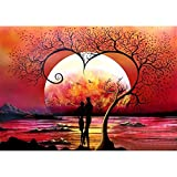5D Diamond Painting Full Set, Sonnenuntergang DIY Diamant Painting Bilder mit Diamond Painting...