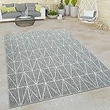 Paco Home In- & Outdoor Teppich, Terrasse u. Balkon, Wetterfest Skandinavischer Stil, Grösse:80x150...
