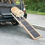 The Fellie Haustierrampe für Hunde mit Teleskop-Zugriff für Autoanhänger und Hundeleiter,...