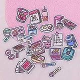 HENJIA Sticker Notizbuch Fotoalbum Tagebuch Deko Assistent Handy Sticker Niedlich Stationär 24Stk
