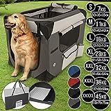 Hundebox aus Stoff - faltbar, zusammengefaltet tragbar, abwaschbar, Farbwahl, Grenwahl S-XXXXL -...