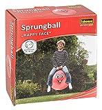 Idena 40093 - Sprungball Happy Face in rot, Durchmesser ca. 45 - 50 cm, belastbar bis 50 kg, ideal...