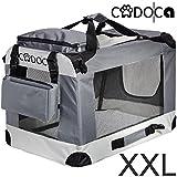 Deuba CADOCA Hundetransportbox faltbar Katzentransportbox Tier Transport Tierbox Größe XXL grau