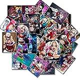 BLOUR 25 Stück Harley Quinn Aufkleber Bomb Suicide Squad Aufkleber für Snowboard Buch Gepäck Auto...