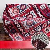 Generic MYBH Home Nordic geometrische doppelseitige Muster Sofa Decke Sofa Handtuch volle Deckung...