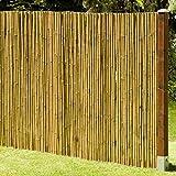 DE-COmmerce Natürlicher Sicht - und Windschutz Deluxe I Sichtschutz Garten Bambus mit geschlossenen...
