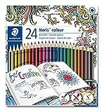 STAEDTLER Noris colour 185 C24JB Buntstifte (erhöhte Spitzen-Bruchfestigkeit, sechskant, Set mit 24...