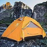 V VONTOX Camping Zelt, 2-3 Personen Wasserdichtes Ultraleichte Kuppelzelt, mit Aluminum Zeltstange...