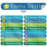 50 Namensaufkleber Namen Sticker Aufkleber Sticker 6 x 1 cm. (Kelle 5) - für Kinder, Schule und...
