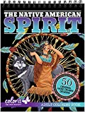 ColorIt The Native American Spirit Malbuch für Erwachsene, 50 einseitige Seiten, dickes glattes...
