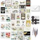 36 Stücke Geburtstagskarten Set mit allen verschiedenen Designs, Happy Birthday Geburtstagskarte...