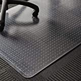 WASJOYE PVC-Stuhlmatte für Teppich, transparente PVC-Tischmatte, groß, 91,4 x 122 cm, mit...