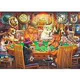 FFLFFL Puzzle 5000 Stück Holzpuzzle Spielzeug Hund Kartenspiel großes Holzpuzzle einzigartige...