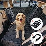 Wasserdichte Hunde Autoschondecke mit Seitenschutz & Reißverschlüsse & Taschen, Universalgröße...