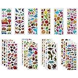 Vicloon Aufkleber fr Kinder, 22 Verschiedene 3D Stickers 500 Geschwollene Aufkleber Einschlielich...