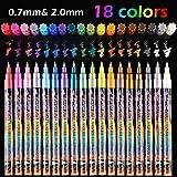 YUTALOW 18 Farben Metallic Marker Stifte für Rock, Glas, Becher, Porzellan, Holz, Metall, Stoff,...