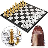 Peradix Schachspiel & Damespiel Deluxe 2-in-1 Schach mit 35.6*35.6cm Magnetischem Faltbarem...