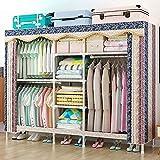 SOTCE tragbarer Kleiderschrank tragbar Kleidung Stand-Alone Kleidung Aufbewahrung Toilette mit...