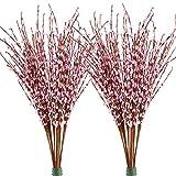 Famibay Künstliche Winter Jasmin Blumen 20 PCS 29.5' Langer Gefälschte Blumen für Zuhause...