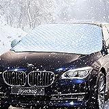 IREGRO Frontscheibenabdeckung Auto Scheibenabdeckung 158x120cm Magnet Fixierung Faltbare...