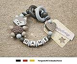 Baby Greifling Beiring geschlossen mit Namen - individuelles Holz Lernspielzeug als Geschenk zur...