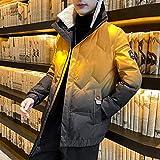 qkl Herrenmantel Winter Neue verdickte Kapuze Baumwollmantel koreanischen Trend Kurze Jacke