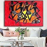 Afroamerikaner Portrtmalerei Sonnenschein Poster Drucke Leinwand Kunst Wandbild fr Wohnzimmer ohne...
