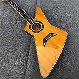SYXMSM Akustikgitarre für Anfänger von Acustica, mit Perleneinlagen und gebunden, mit farbiger...