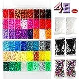 Bügelperlen Set , Steckperlen - 18000 Perlen,48 Farben mit 4 Bügelpapier,8 Basis ,2 Pinzette,3...