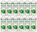 12er-Pack FOCO Pures Kokosnusswasser [ 12x 1 Liter ] Coconut Water 100% Natural + ein kleines...