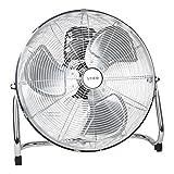 STIER Ventilator, 145 W, Bodenventilator in Metall-Optik, Durchmesser 50 cm, 3 Ventilationsstufen,...