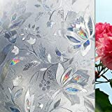 LMKJ 3D Tulip Privacy Window Sticker Dekorfolie Elektrostatisches Glas Opak Kein Kleber...