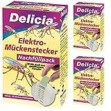 3 x 20 (60 Stk) Delicia Elektro-Mückenstecker Nachfüllpack