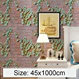 lixiang668 Kreative 3D Parthenocissus Stone Brick Dekoration Tapete Aufkleber Schlafzimmer...