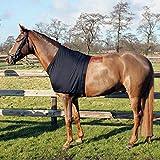 QHP Brustschutz Lycra Schulterschutz unter Decken schwarz (M)
