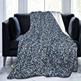 FHDA QR Code Camouflage Super weiche Microfaser-Fleece-Überwurf, warm, bequem, Schwarz, 60'x50'