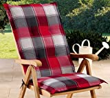 Schwar Textilien Gartenstuhlauflagen Sitzauflagen Auflage fr Hochlehner Rot Grau UVP 19,95