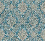 A.S. Cration Vliestapete Secret Garden Tapete neo-barock 10,05 m x 0,53 m blau braun metallic Made...