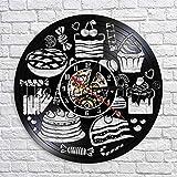 GVC Küchenwanduhr Süßigkeiten Wanduhr Dessert Zeituhr Modernes Design Vinyl 3D Wanduhren Uhr in...