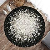 Weikeya rutschfeste Stuhlmatte, 0,6 cm / 0,24 Zoll Muster Stil Bürostuhl Matte Polyester gemacht