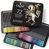 Castle-Art-Supplies-Set - 72 Buntstifte - Set fr Malbcher fr Erwachsene oder Kinder - aus der...